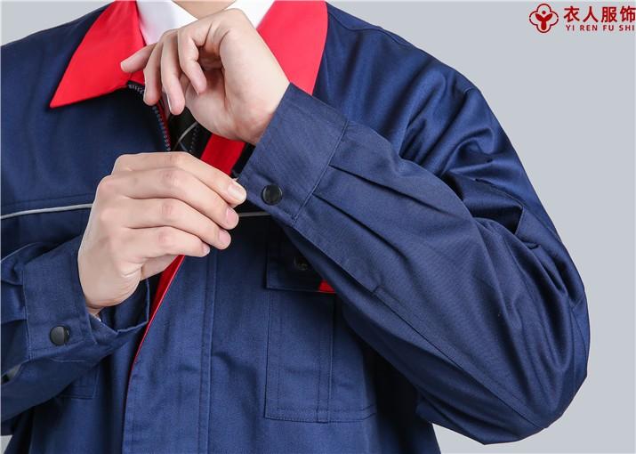 涤棉纱卡工装领部