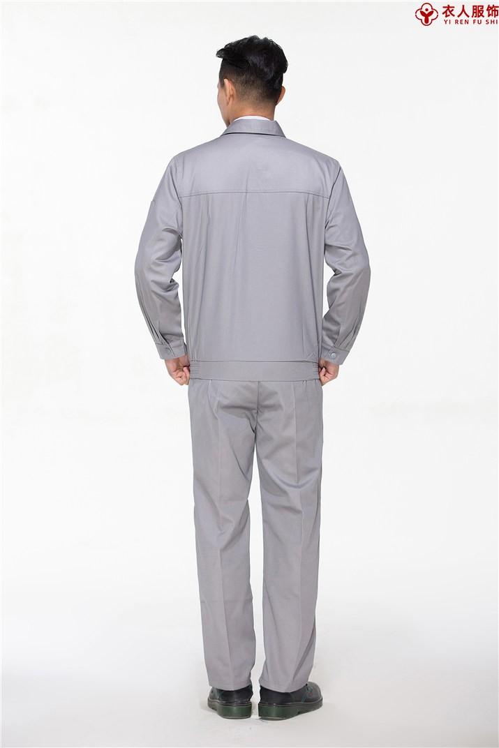 灰色防静电工作服背部