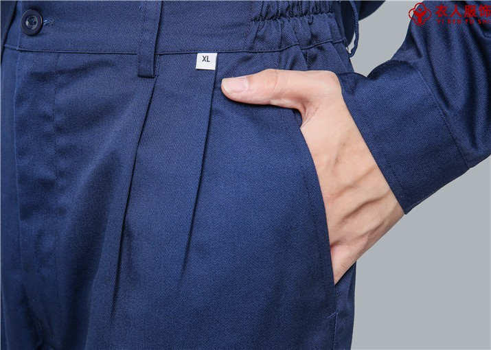 涤棉纱卡工装裤兜