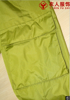 單層沖鋒褲口袋(男款)