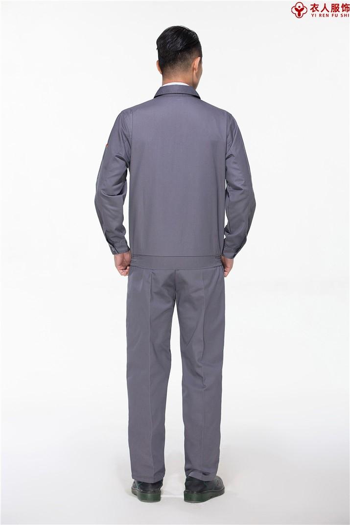 灰色车间工作服工地工作服背部