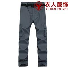 灰色單層沖鋒褲(男款)